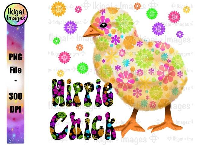 Hippie Chick PNG, Flower Power Sublimation Design, Retro Art