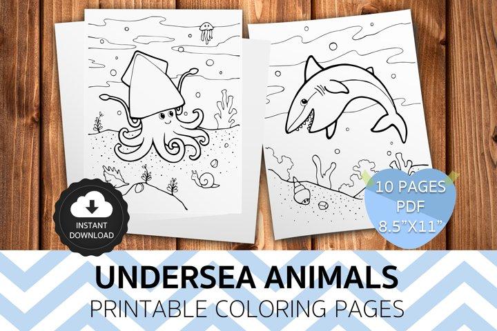 Happy Undersea Coloring Pages