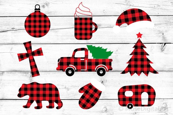 Buffalo Plaid Bundle Svg, Christmas Shirt Christmas Tree Svg