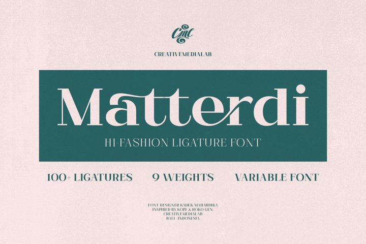 Matterdi | Hi-fashion ligature font