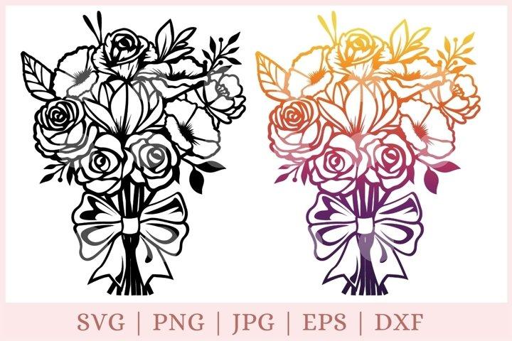Flower SVG, Bouquet SVG, Thank you svg
