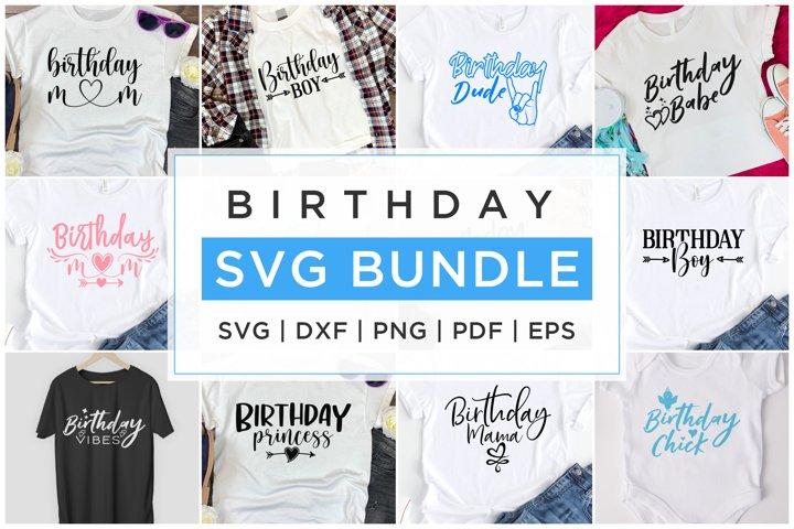 Birthday Design, Birthday Bundle, SVG DXF EPS PNG PDF