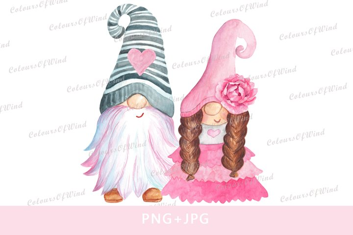 Valentines Day Gnomes PNG Sublimation