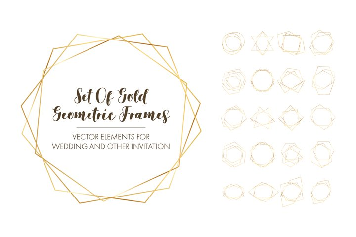 Gold Geometric Luxury Frames