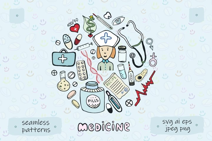 Medical icons & patterns