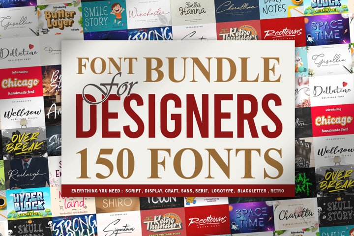 Font Bundle For Designers Vol 1