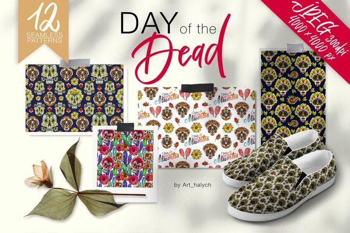 Dia de los Muertos | Day of the Dead - Seamless Patterns