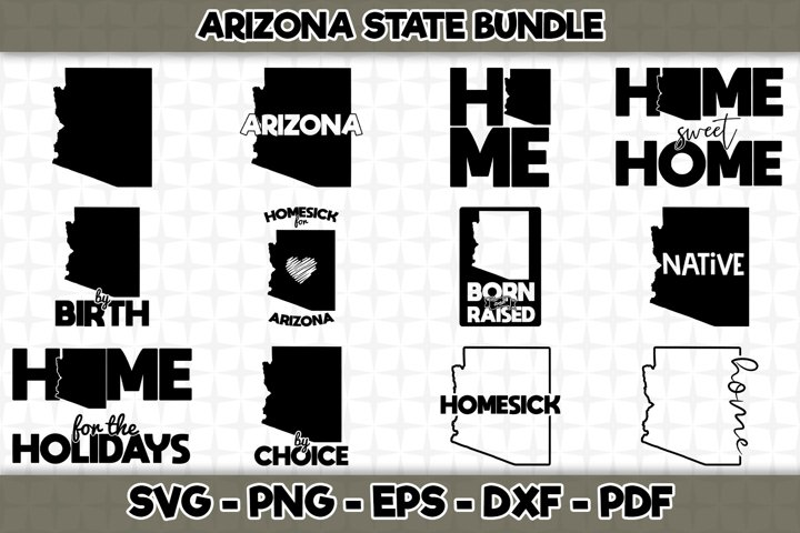 Arizona State SVG Bundle - 12 Designs - Arizona State - SVG
