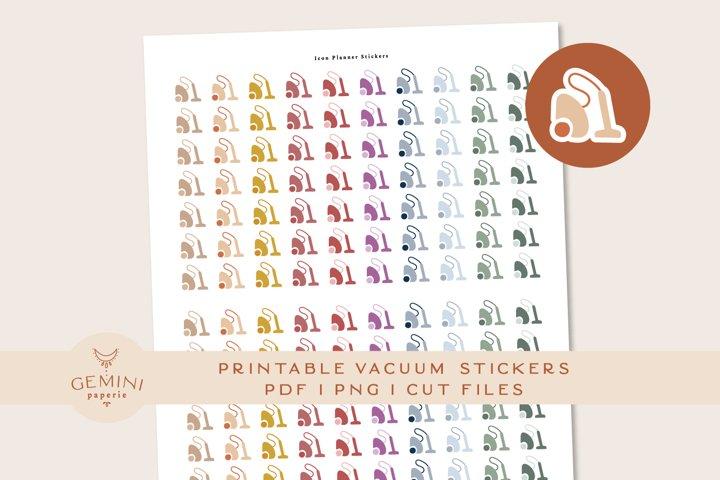 Vacuum Icon printable Stickers