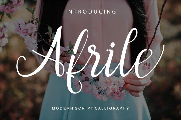 Afrile script