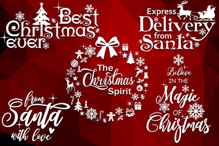 Christmas svg bundle Merry christmas svg Christmas sayings