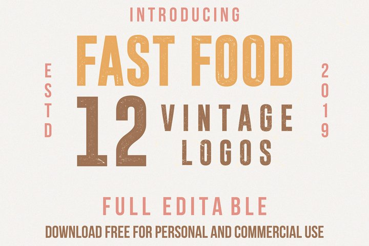 Fast food logo templates