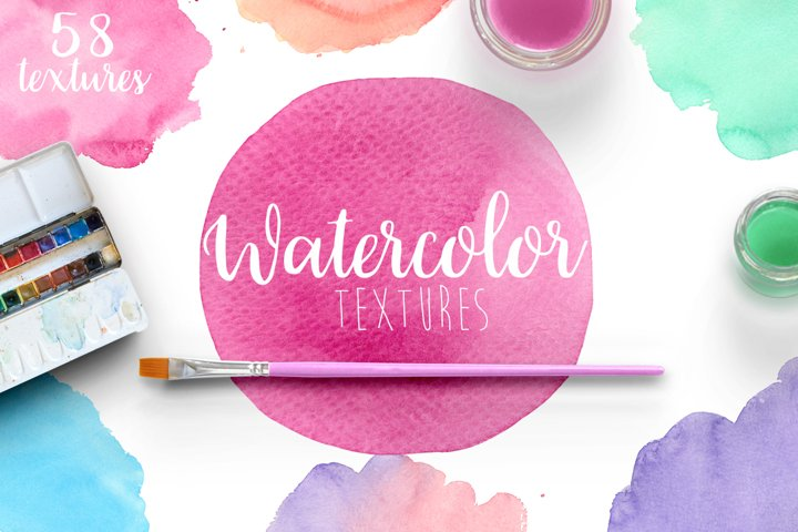 Watercolor textures example