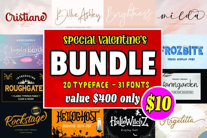Font Bundle - Special Valentines