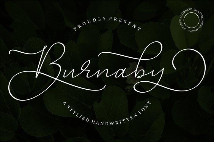 Burnaby Script Elegant Font