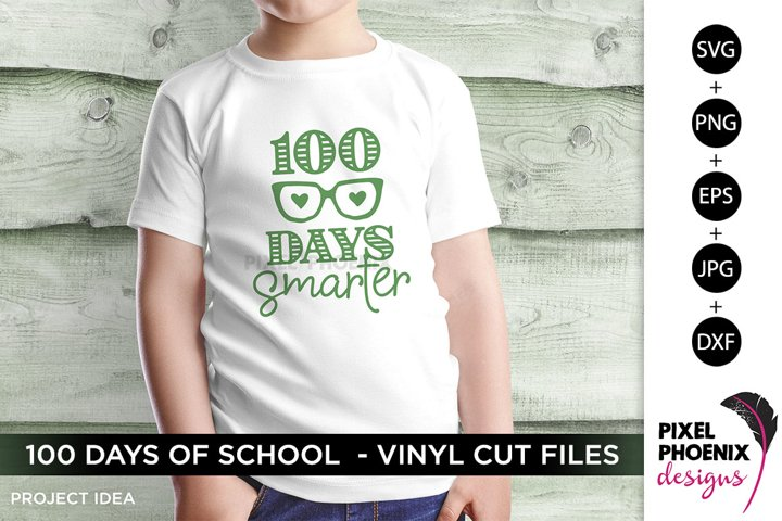 100 Days Smarter, 100 Days of School SVG, Glasses SVG