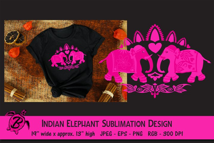 Indian Elephant Sublimation Design For T Shirts