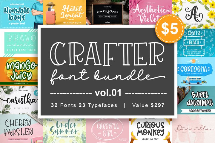 Crafter Font Bundle Vol. 1