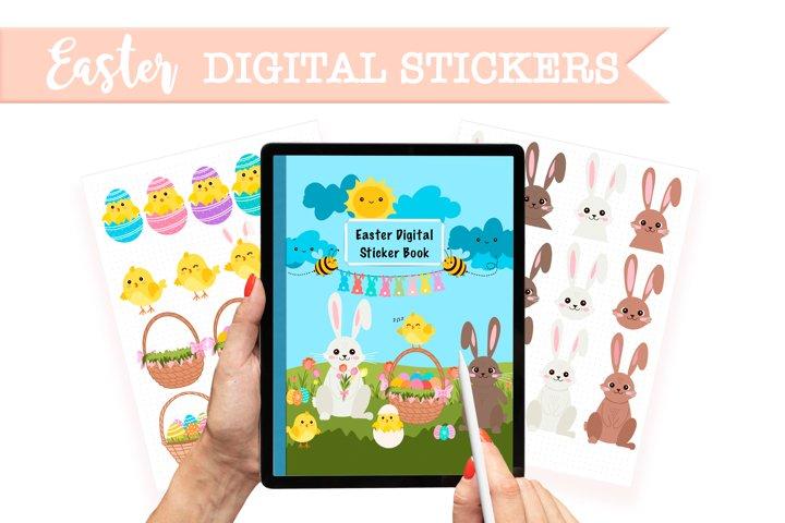 Digital easter sticker bundle for digital planner