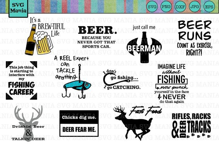 Big SVG Bundle for Men, Hunting SVG, Fishing SVG, Beer SVG