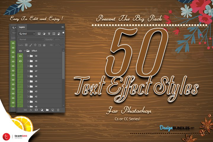 Mega 50 Effect Styles Photoshop