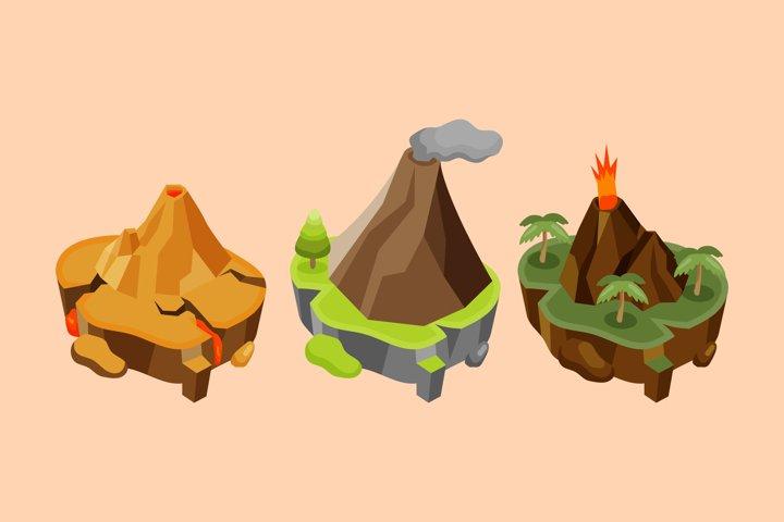 Volcano Illustrations
