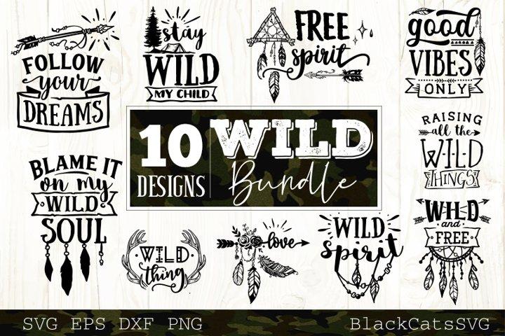 Wild SVG bundle 10 designs Boho SVG bundle vol 2