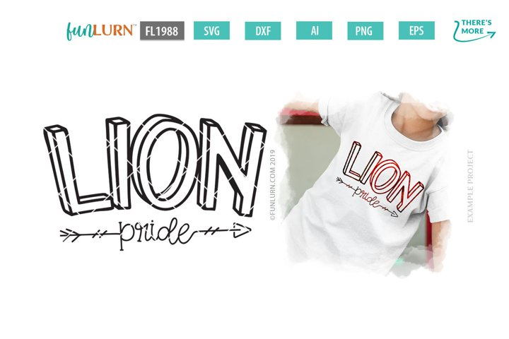 Lion Pride Team SVG Cut File