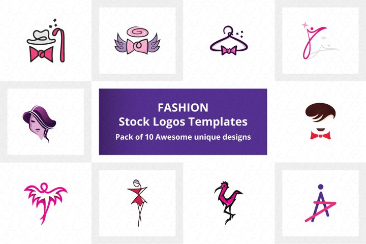 Fashion Stock Logo Templates Pack of 10