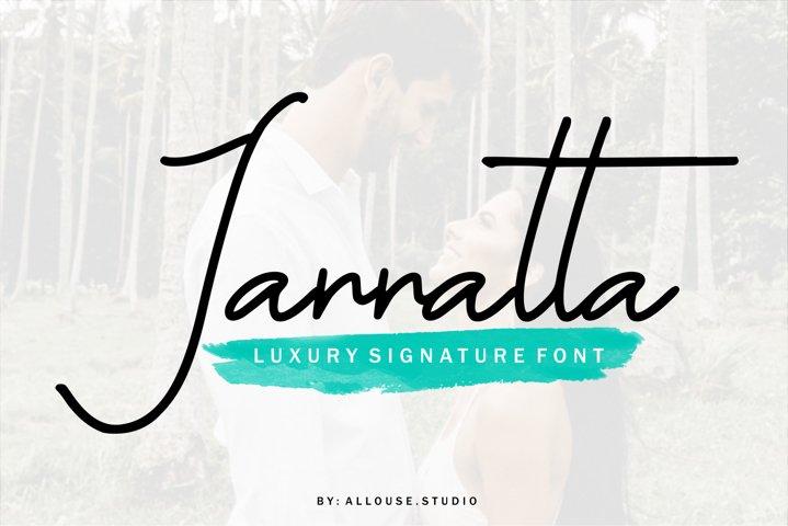 Web font - Jannatta - Luxury Signarute Font