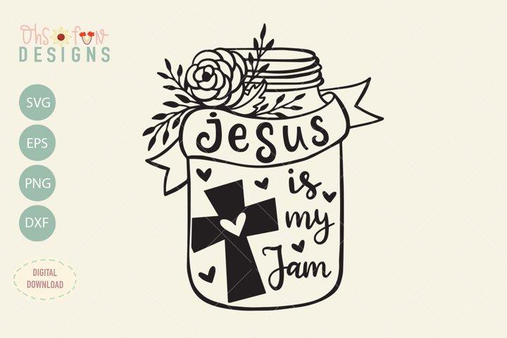 Jesus is my jam, SVG file, Christian t-shirt design
