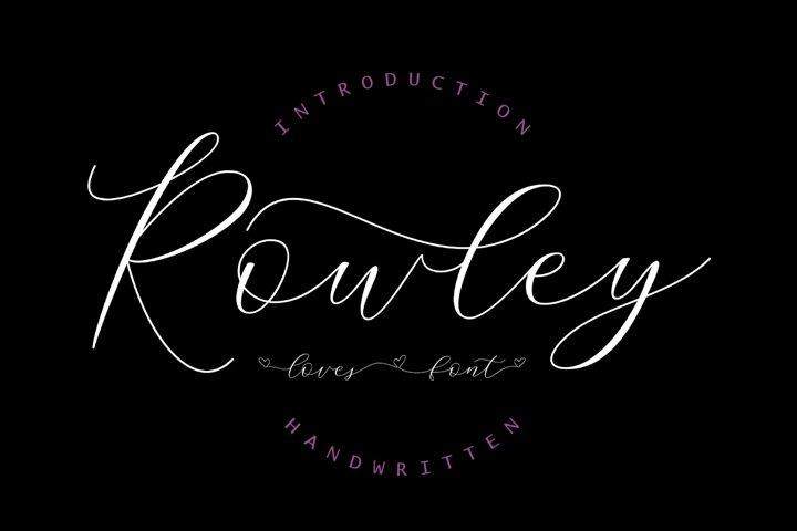 Rowley Script - Lovely Font
