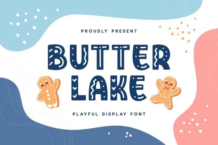 Butterlake - Playful Display Font