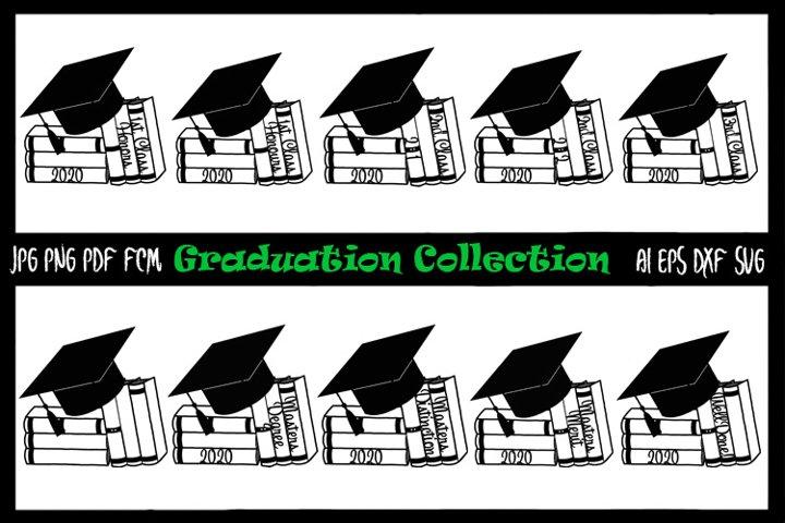 10 Graduation papercutting templates jpg/png/ai/dxf/svg/fcm