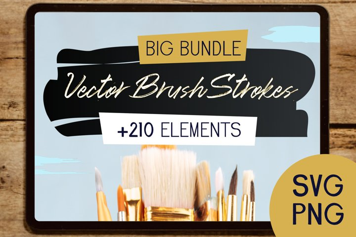 Vector Watercolor Brush Strokes Illustrator Pack SVG Bundle