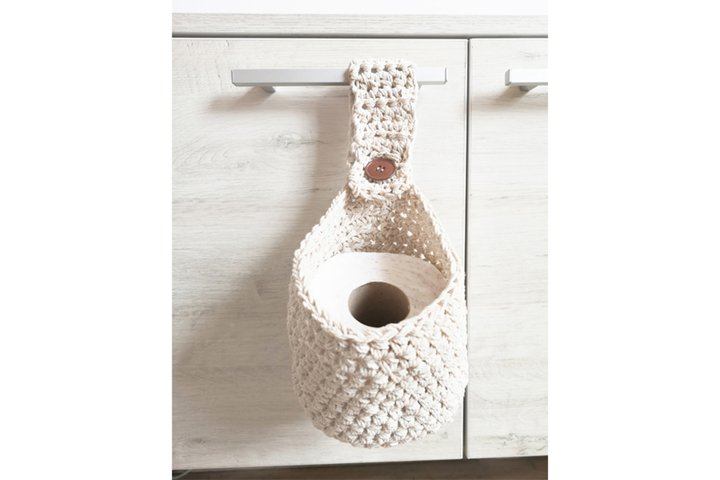 Toilet paper basket with handle