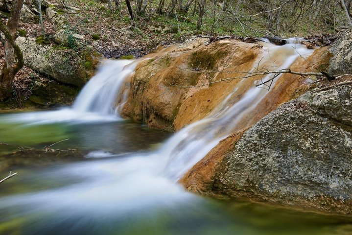 Beautiful waterfall in the forest of national park