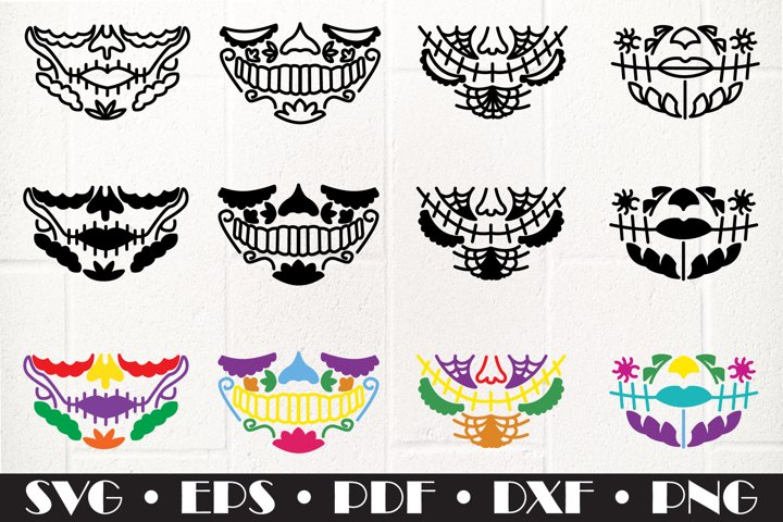 Skull face mask SVG