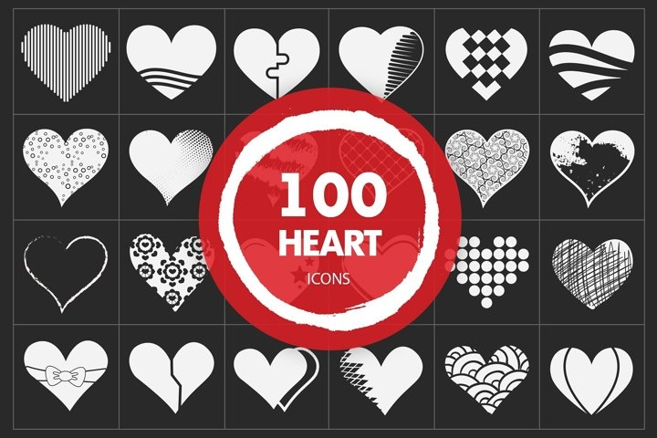 SVG Heart Vector Icons Set