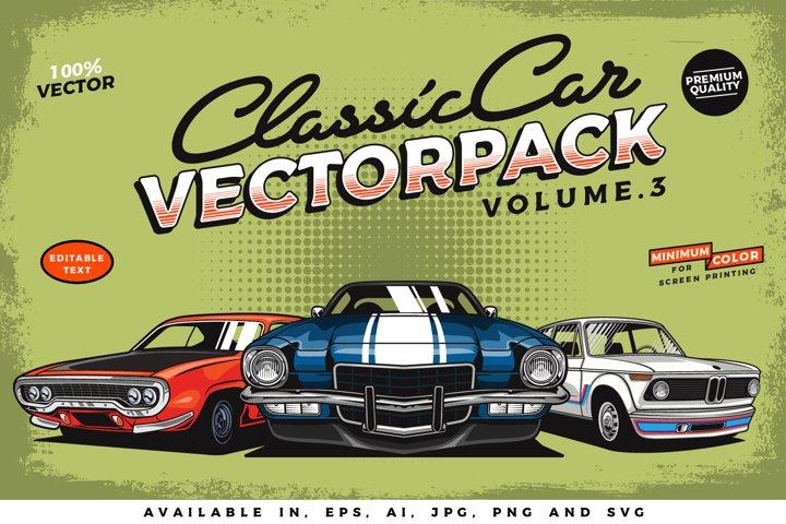 Classic Car Vector Pack vol. 3