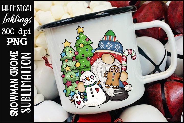 Snowman Gnome Sublimation Clipart