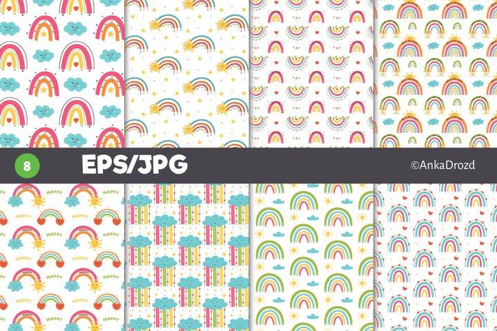Colourful Rainbow digital paper