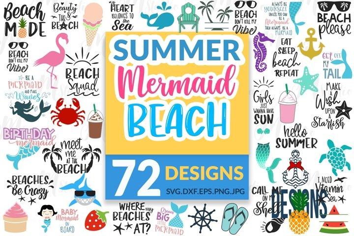 Summer, Mermaid, Beach SVG Bundle