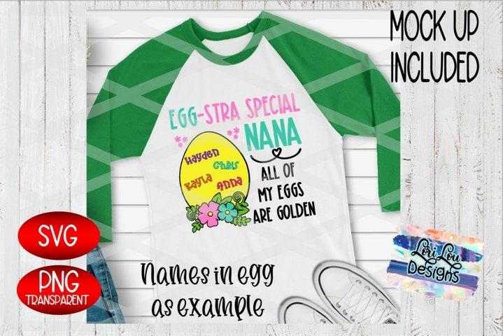 Easter Egg-Stra Special Nana Floral Egg Sublimation SVG File