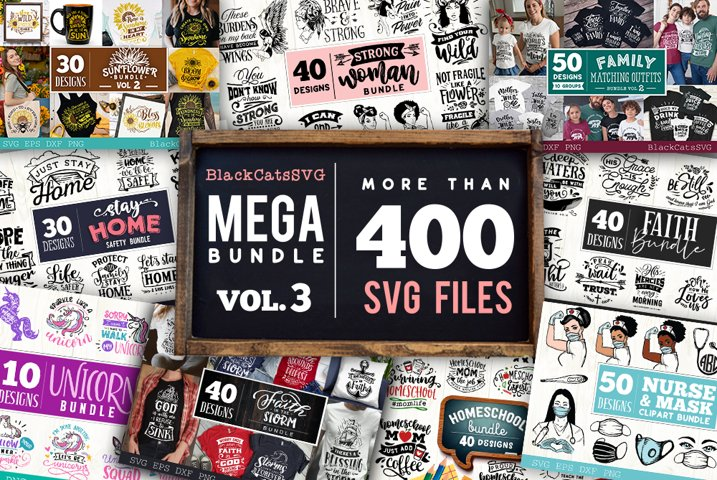 Mega Bundle 400 SVG designs vol 3