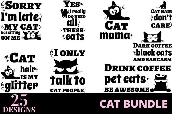 25 designs cat quotes bundle