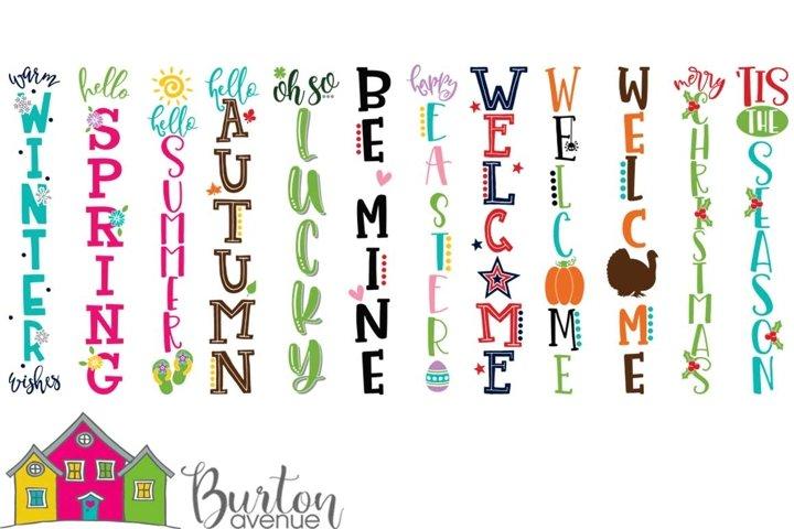 Holidays and Seasons Porch Sign Bundle