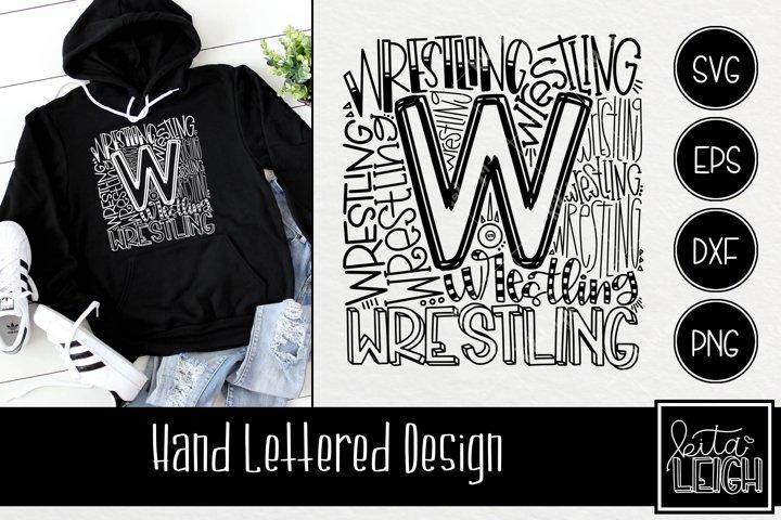 Wrestling Typography SVG