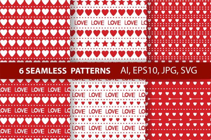 Hearts digital paper. Love digital paper. Valentines Day.