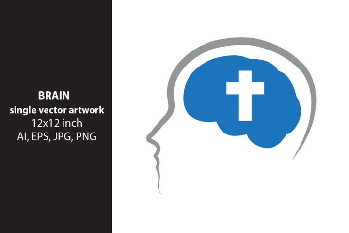 brain cross, vector
